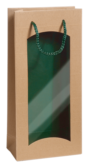 FOCUS bicolor, doppelte Breite, innen grün / aussen natura